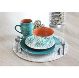 Pranav 16 Piece Stoneware Dinnerware Set, Service for 4