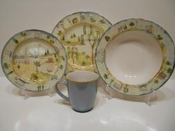 222 Fifth  Porter's Village 15pc Dinnerware Set, Lighthouse,