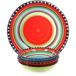 Gibson Pueblo Springs Handpainted 5-Piece Bowl set