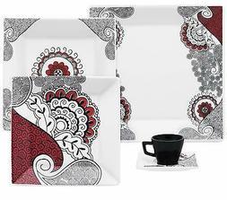 Oxford Quartier Porcelain Boho Chic Collection Dinnerware Se