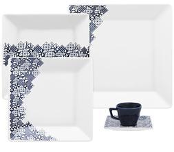 Oxford Quartier Porcelain Dinnerware Set, White