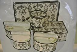 Quilted Dinnerware Storage China Keepers Platter Cases Cup P