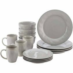 Rachael Ray 16-Piece Cucina Stoneware/Ceramic Dinnerware Set