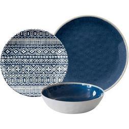 Reactive 12pc Dinnerware Set, Blue