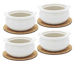 Ecodesign Bowls - Set of 4 - Premium French Onion Soup Bowls