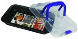 """Rect. Roasting Pan w/Cover 14.25"""""""" X 9"""""""" X 1.5"""""""" Case Pack 8"""