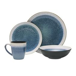 Gourmet Basics by Mikasa Reed 16-Piece Dinnerware Set, Servi