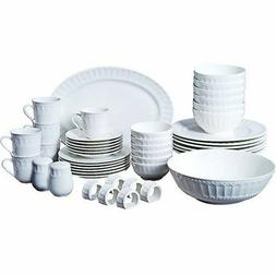 Regalia 46-Piece Dinnerware and Serveware Set - Service for