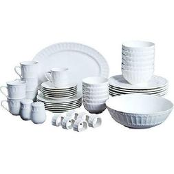 Gibson Home Regalia 46-Piece Dinnerware and Serveware Set, S