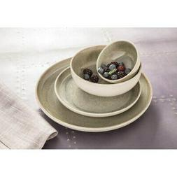 Sango Resona Moss 16 Piece Dinnerware Set, Service for 4 Gre