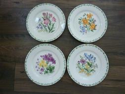 "RETIRED THOMPSON POTTERY ""FLORAL GARDEN"" SET OF 4 DINNER PLA"