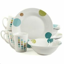 Gibson Home 101790.312 Retro Specks 12 Piece Dinnerware Set