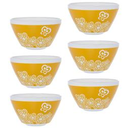 World Kitchen  Retro White Glass Soup Cereal Salad Serving B