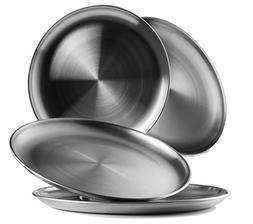 Reusable Brushed Metal 18/8 Dinner Plates- Vintage Quality 3