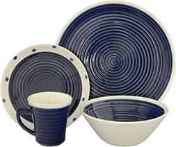 Rico 16 Piece Dinnerware Set, Blue