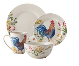 Rooster Dishes Set Everyday Dishes Farmhouse Dinnerware Sets