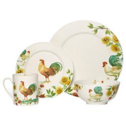 Pfaltzgraff Rooster Meadow 16 Piece Dinnerware Set
