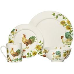 rooster meadow dinnerware set