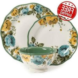 The Pioneer Woman Rose Shadow Dinnerware Set Dishes Plates B