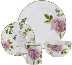 Spode Roses  Porcelain Dinnerware 16-piece Dish Set Service