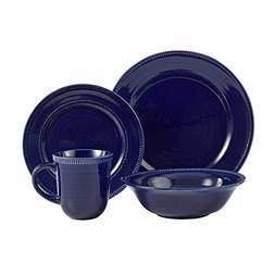 American Atelier Round 16 Piece Dinnerware Set, Indigo