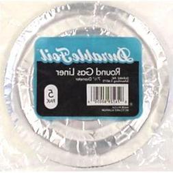 Round Gas Burner Foil Liners - 5 Pack Case Pack 24 Home Kitc