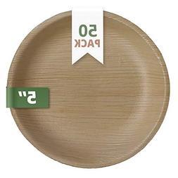 CaterEco 5-inch Round Palm Leaf Plates Set    Ecofriendly Di