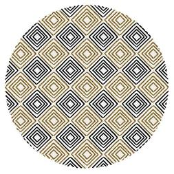 iPrint Multicolor Round Tablecloth  Fabric Home Set