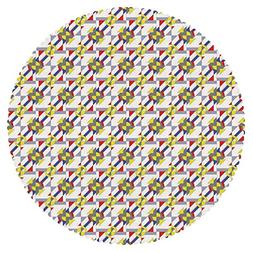 iPrint Round Tablecloth  Fabric Home Decor Set