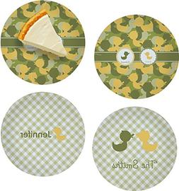 Rubber Duckie Camo Set of 4 Glass Appetizer/Dessert Plate 8""