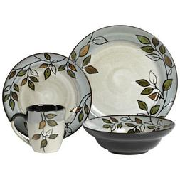 Pfaltzgraff Rustic Leaves 32 Piece Dinnerware Set