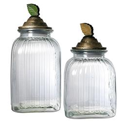 Pfaltzgraff Rustic Leaves Glass Canister
