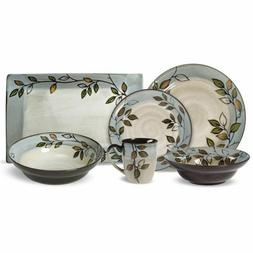 Pfaltzgraff Rustic Leaves Service for 8 with Serveware Brand