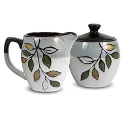 Pfaltzgraff Everyday Rustic Leaves Sugar and Creamer Set