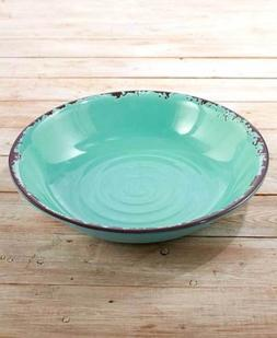 Rustic Melamine Serving Bowls. Vintage Distressed Tableware.