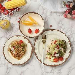 Rustic Shatterproof Melamine Dinnerware Set 12 Pc Country Pr