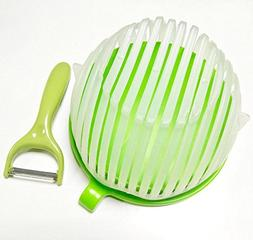 FreeLife Salad Cutter Bowl + Bonus Handy Peeler – Fast Fre
