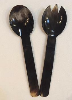 Salad Serving Fork and Spoon Set Dining entertainment  NEW H