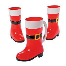 Santa Boot Mugs 2 Pack Set of 2 Boot Mugs