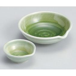 Sashimi Plate utw52-19--20-794  Japanece ceramic Green celad