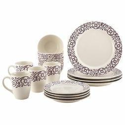 Rachael Ray® 16-pc. Scroll Stoneware Dinnerware Set
