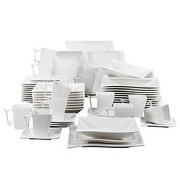 MALACASA Serie Flora 60 Piece White Porcelain Dinner <font><