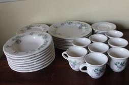 Pfaltzgraff Grapevine Set/40 serves 8 Dinnerware Set ~8 Dinn