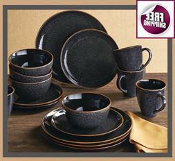 Set Dinnerware 16 Pcs Dishes Plate Mug Vintage Classic Moder