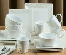 Set Dinnerware 16 Pcs Dishes Plate Mug Cup Vintage Classic M