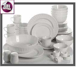Set Dinnerware 46 Pcs Dishes Plate Mug Classic Vintage Moder