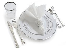 """OCCASIONS"" Full set - Wedding Disposable Plastic Plates, pl"
