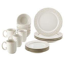 Paula Deen Stoneware Dinnerware, 16-Piece Set, Vineyard Bask