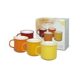 Waechtersbach - Set of 4 cups - Elements - Magma - yellow -