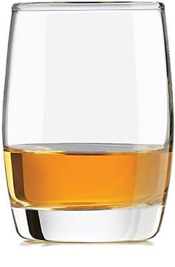 Set of 4 Heavy Base Scotch Whiskey Glass Drinking Dinnerware